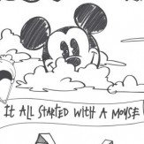 Galerie Mickey Scene Black & White Wallpaper