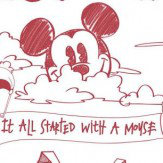 Galerie Mickey Scene Red & White Wallpaper