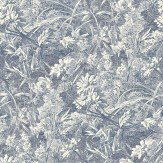 Liberty Fabrics Royal Daisy Indigo Wallpaper