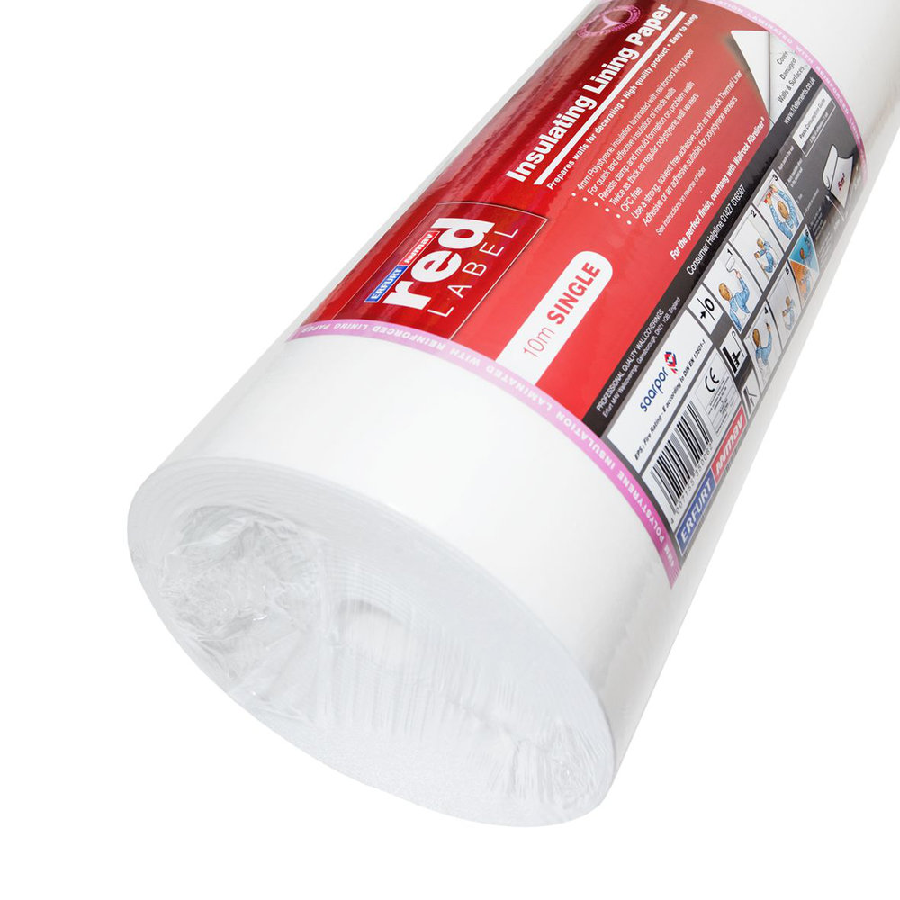MAV Elements Insulating Lining Paper - Paintable - by Wallrock