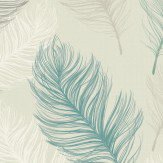 Arthouse Whisper Teal Wallpaper