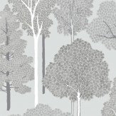 Arthouse Ellwood Silver Wallpaper