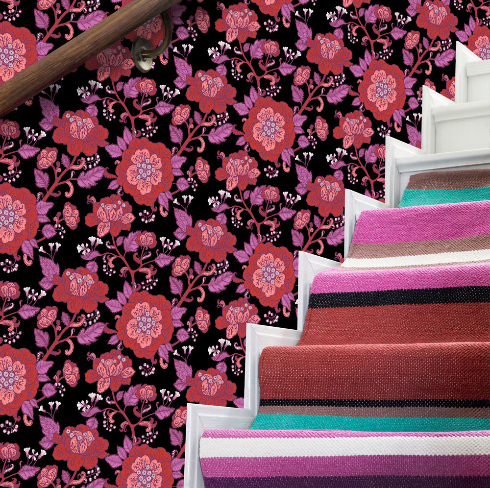 Cinnamon Wallpaper - Red - by Vallila