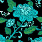 Vallila Cinnamon Turquoise  Wallpaper