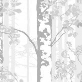 Vallila Luontopolku White Wallpaper - Product code: 5219-2