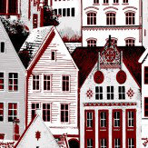 Vallila Bergen Red Wallpaper