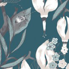 Vallila Haltiatar Turquoise  Wallpaper