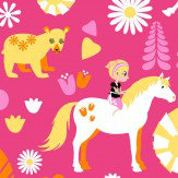 Vallila Kevatlaulu Pink Wallpaper
