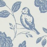 iliv Bird Garden Denim Wallpaper - Product code: ILWQ/BIRDDENI
