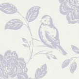 iliv Bird Garden Lavender Wallpaper