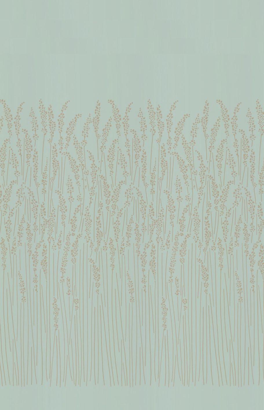 Feather Grass Wallpaper - Blue - by Farrow & Ball