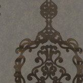 Kandola Sovereign Antique Brass Wallpaper - Product code: W1622/02/001DOR