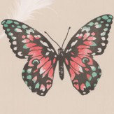 Albany Butterflies Beige & Red Wallpaper