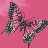 Albany Butterflies Pink Wallpaper