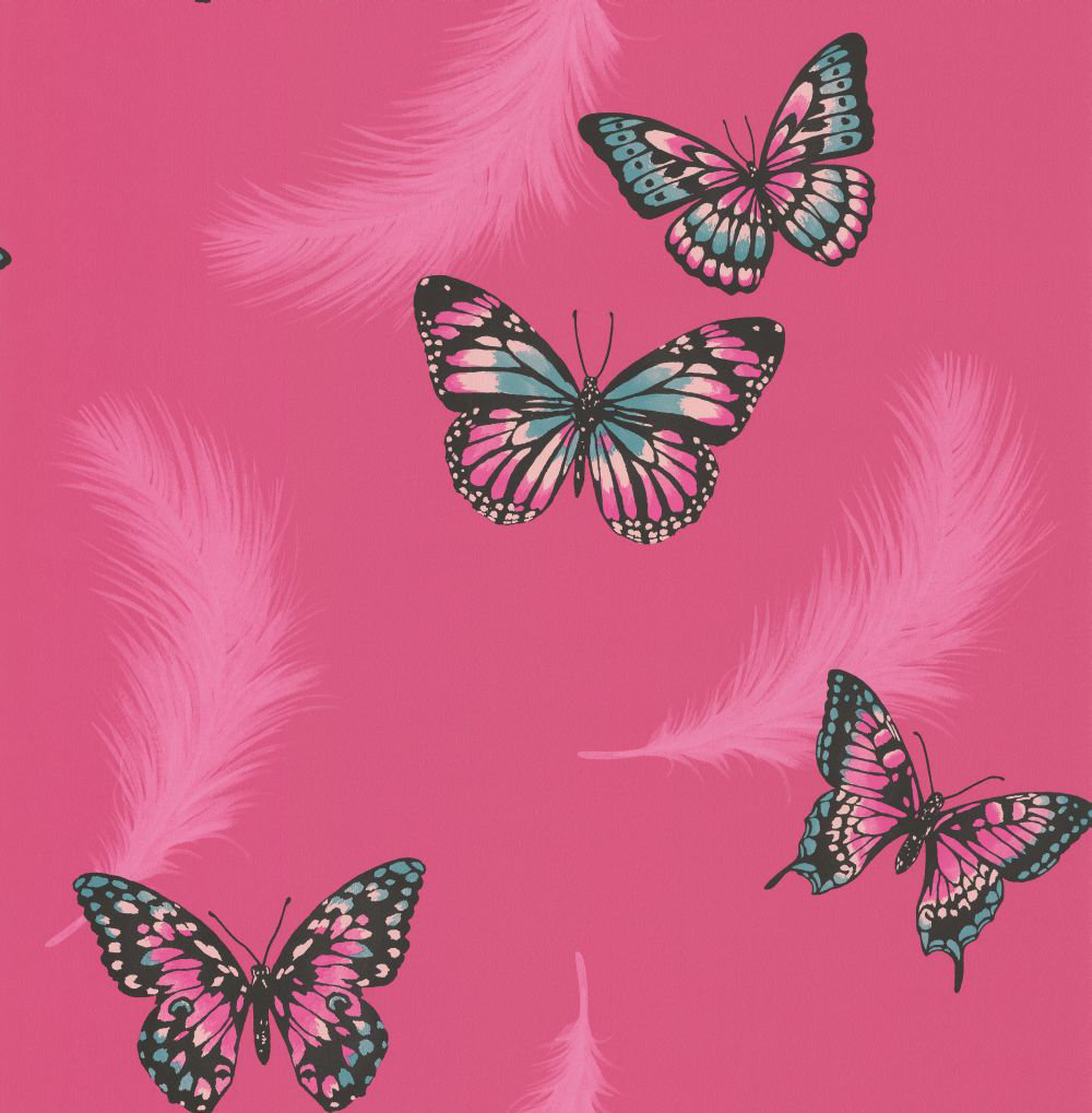 Albany Butterflies Pink Wallpaper - Product code: 40920