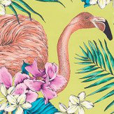 Matthew Williamson Flamingo Club Lime, Fuchsia, Ivory & Peacock Fabric - Product code: F6790/02