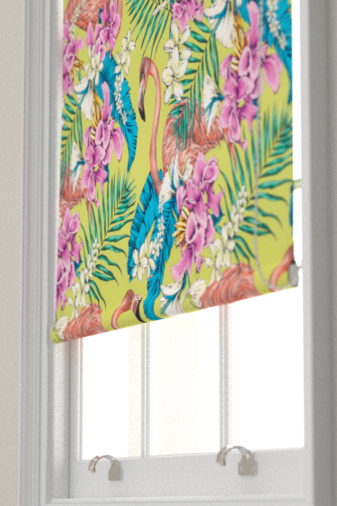 Matthew Williamson Flamingo Club Lime, Fuchsia, Ivory & Peacock Blind - Product code: F6790/02