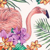 Matthew Williamson Flamingo Club Ivory, Fuchsia, Coral & Grass Fabric - Product code: F6790/03