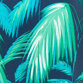 Matthew Williamson Tropicana Petrol, Emerald & Turquoise Fabric - Product code: F6791/01