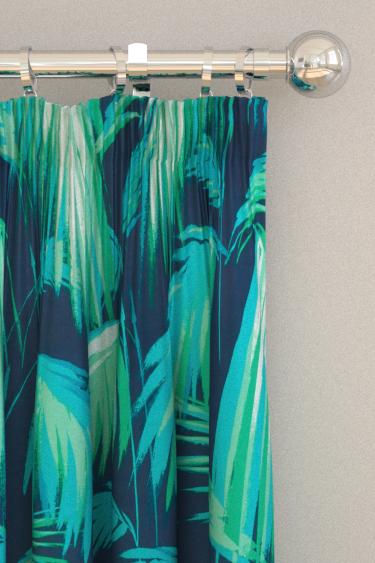 Matthew Williamson Tropicana Petrol, Emerald & Turquoise Curtains - Product code: F6791/01