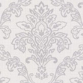 Albany Dogtooth Damask Silver Grey Wallpaper