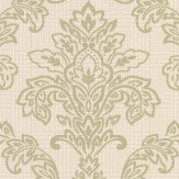 Albany Dogtooth Damask Green Wallpaper