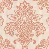 Albany Dogtooth Damask Copper Wallpaper