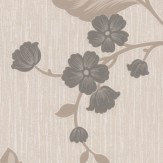 Albany Glitter Daisy Trail Black Wallpaper