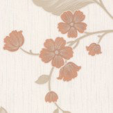Albany Glitter Daisy Trail Dark Salmon Wallpaper