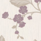 Albany Glitter Daisy Trail Purple Wallpaper