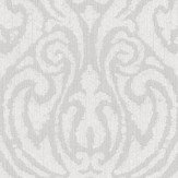Architects Paper Downton Damask Opal White Wallpaper