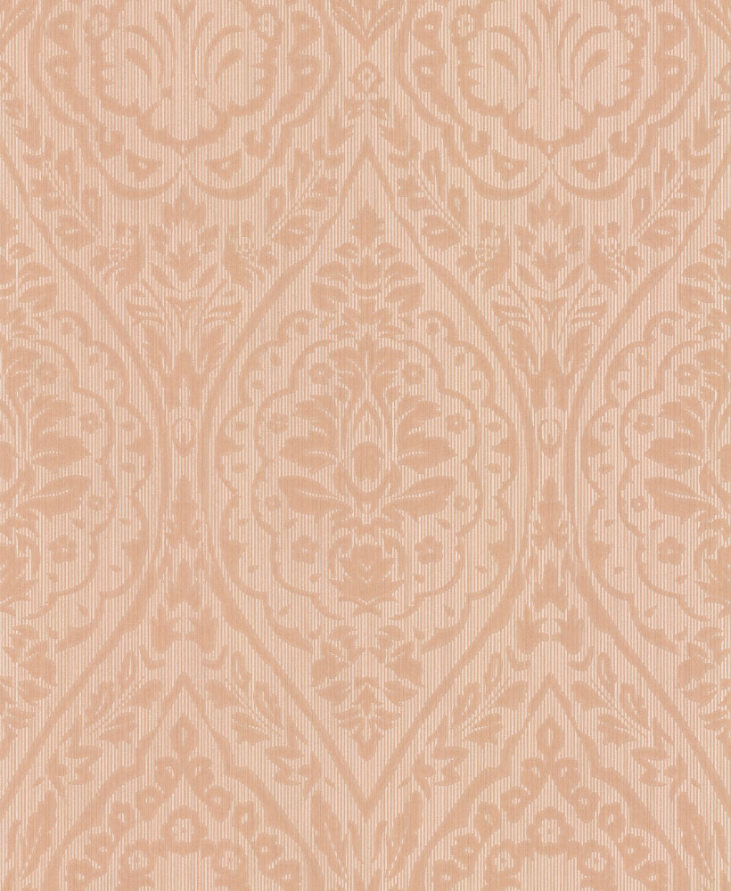 Architects Paper Westminster Damask Light Terracotta Wallpaper main image