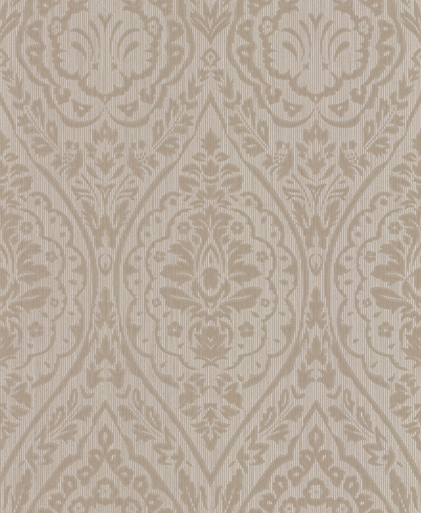 Architects Paper Westminster Damask Taupe Wallpaper main image