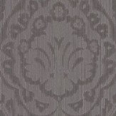 Architects Paper Westminster Damask Chocolate Brown Wallpaper