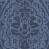Architects Paper Westminster Damask Midnight Blue Wallpaper