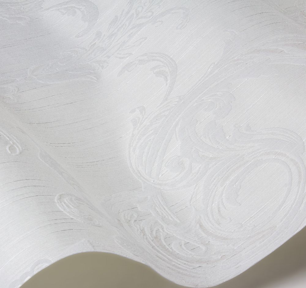 Blenheim Damask Wallpaper - Opal White - by Architects Paper