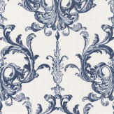 Architects Paper Blenheim Damask Midnight Blue Wallpaper