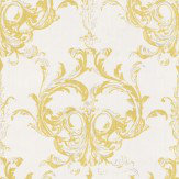 Architects Paper Blenheim Damask Chartreuse Wallpaper