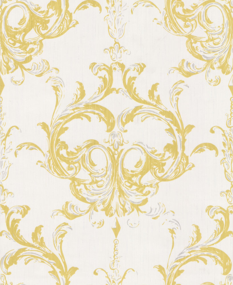 Architects Paper Blenheim Damask Chartreuse Wallpaper main image