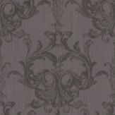 Architects Paper Blenheim Damask Chocolate Brown Wallpaper