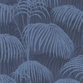 Architects Paper Brighton Pavilion Palm Midnight Blue Wallpaper