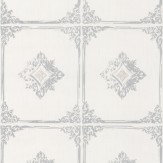 Architects Paper Chatsworth Opal White Wallpaper