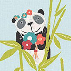 Prestigious Panda Aqua Fabric - Product code: 5723/604