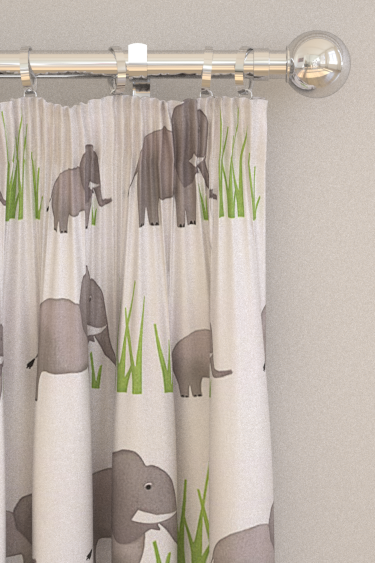 Prestigious Jumbo Elephant Grey Curtains - Product code: 5724/942