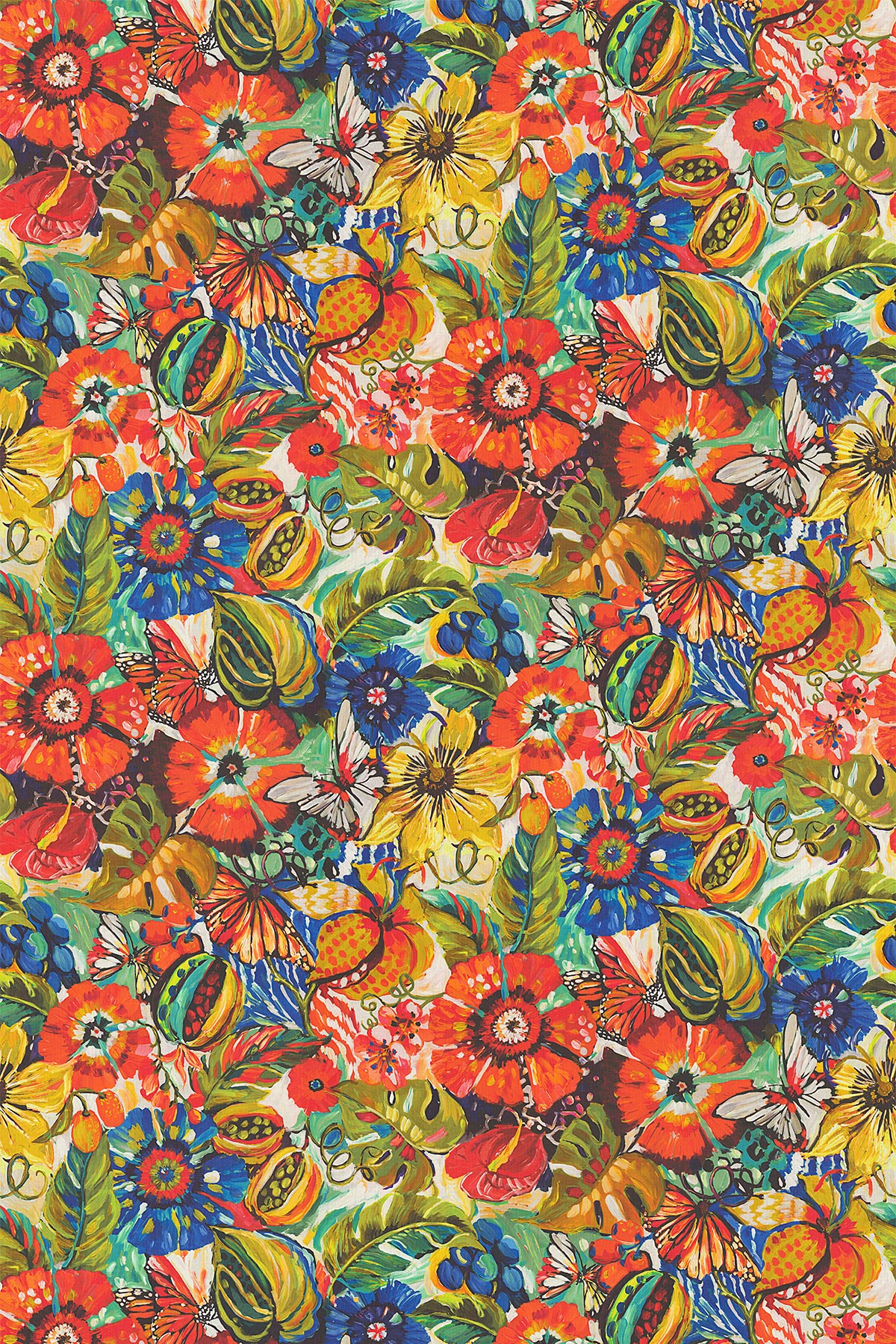Tropical Garden Fabric - by Prestigious
