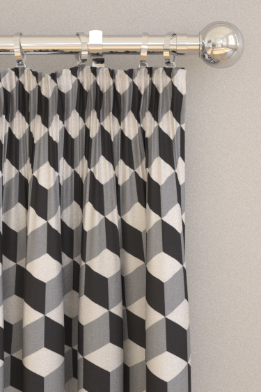 Prestigious Cube  Jet Black Curtains
