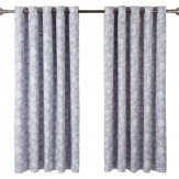 iliv Henley Bird Garden Eyelet Lined Curtains Lavender Ready Made Curtains - Product code: 682545