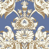 Cole & Son Wyndham Peacock Blue Wallpaper