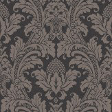 Cole & Son Blake Black / Graphite Wallpaper - Product code: 94/6032
