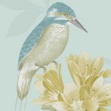 Holden Decor Kingfisher Soft Teal Wallpaper
